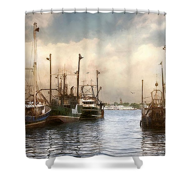 New Bedford Harbor Shower Curtain