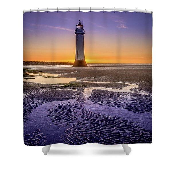 New Brighton Lighthouse Shower Curtain
