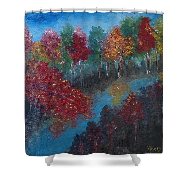 New Hampshire In Autumn Shower Curtain