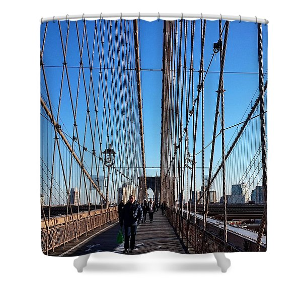 New York City - Brooklyn Bridge Shower Curtain
