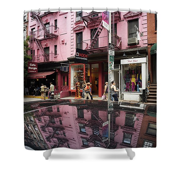 Shower Curtain featuring the photograph New York Soho  by Juergen Held