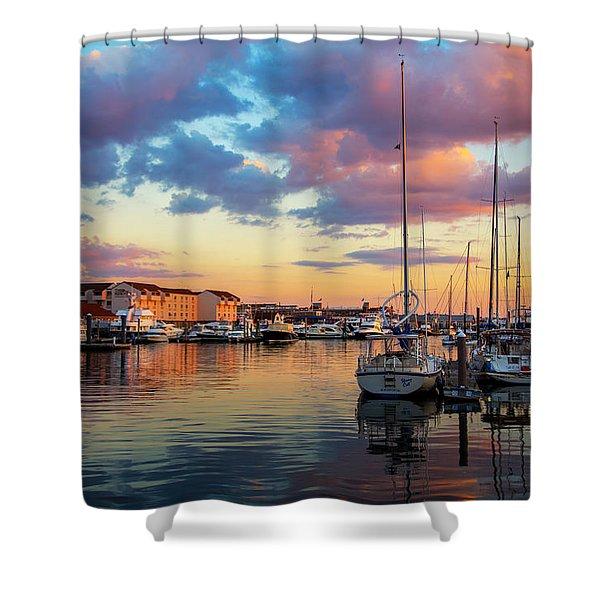 Newports Dusk Shower Curtain