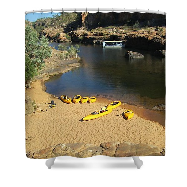 Nitmiluk Gorge Kayaks Shower Curtain