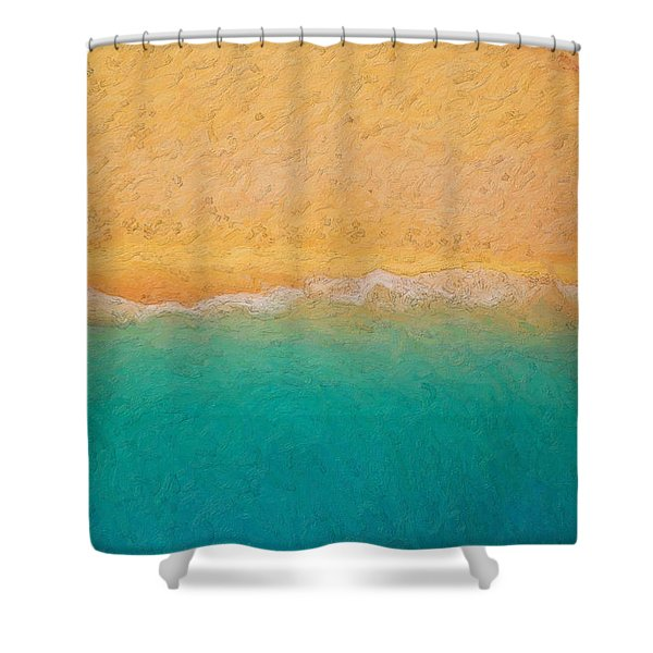 Not Quite Rothko - Surf And Sand Shower Curtain
