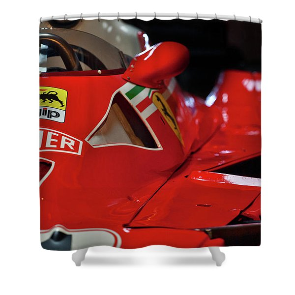 Number 11 By Niki Lauda #print Shower Curtain