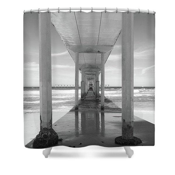 Ocean Beach Pier Shower Curtain