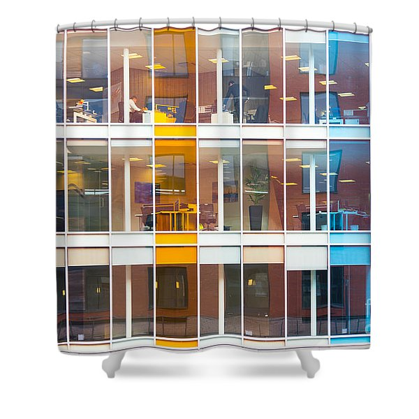 Office Windows Shower Curtain