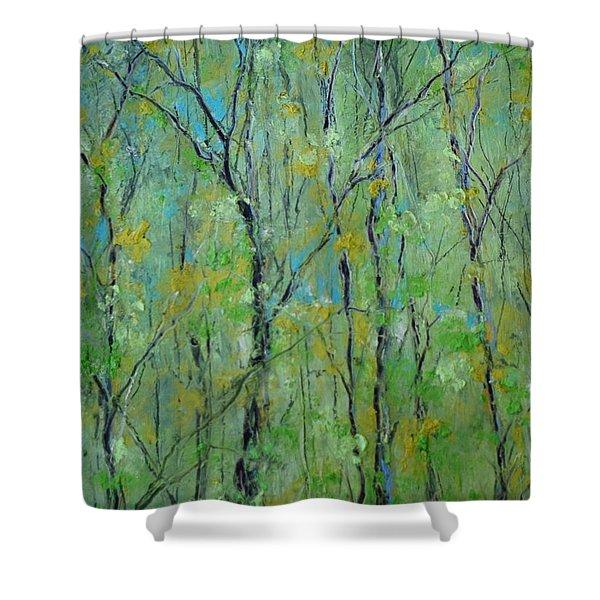 Awakening Of Spring Shower Curtain