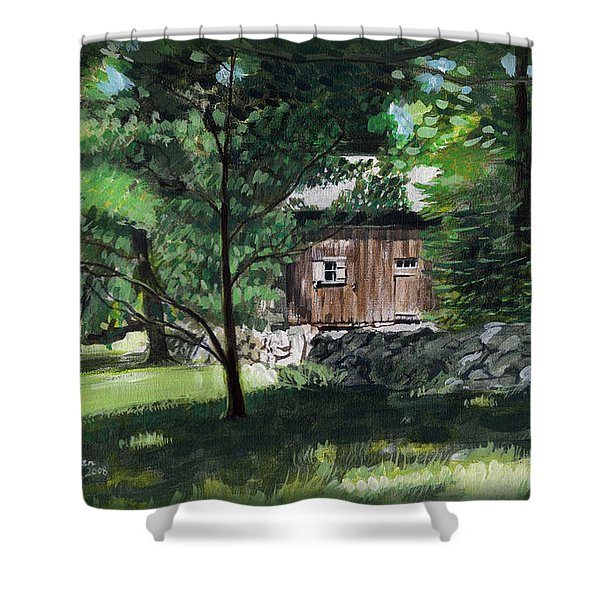 Old Redding Road, Aspetuck Shower Curtain