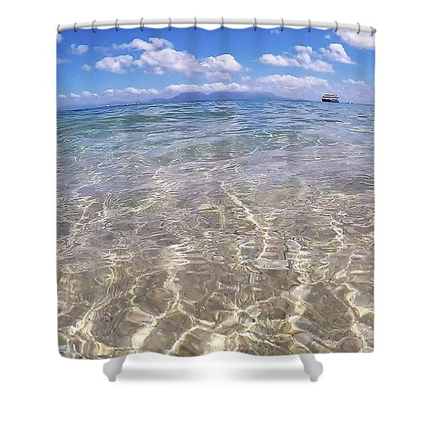 Shower Curtain featuring the photograph On The Horizon by Debbie Cundy