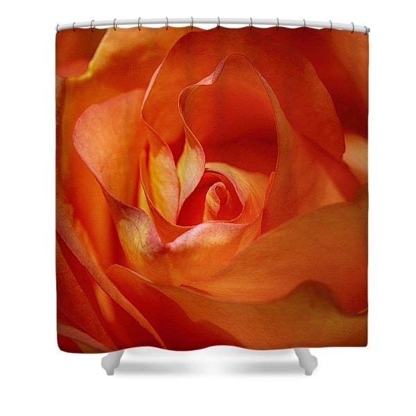 Orange Passion Shower Curtain