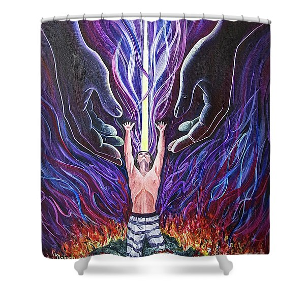 Out Of The Ashes Shower Curtain