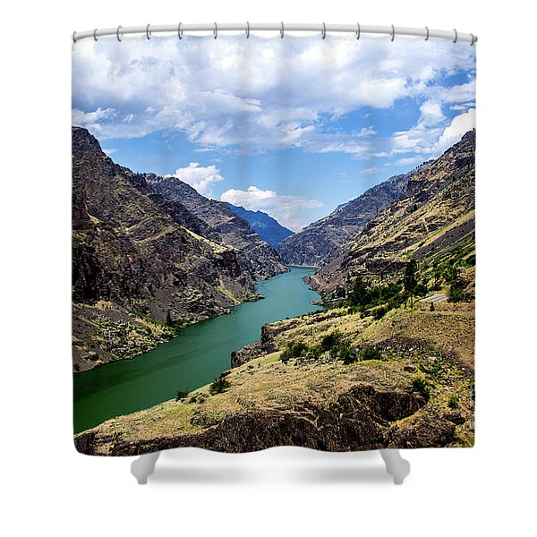 Oxbow Dam Tailwater Idaho Journey Landscape Photography By Kaylyn Franks  Shower Curtain