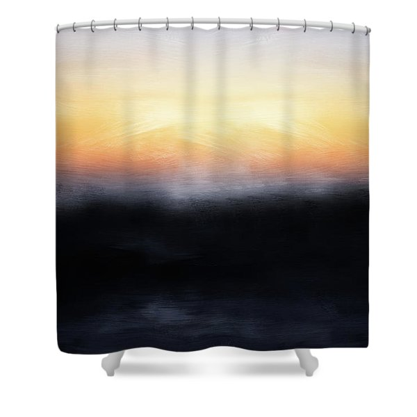 Pacific Sunset- Abstract Art By Linda Woods Shower Curtain