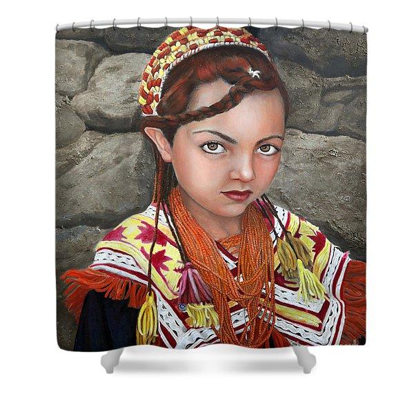 Pakistani Girl Shower Curtain