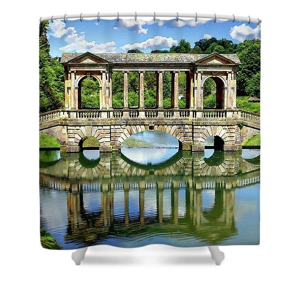 Palladian Bridge Nature Scene Shower Curtain