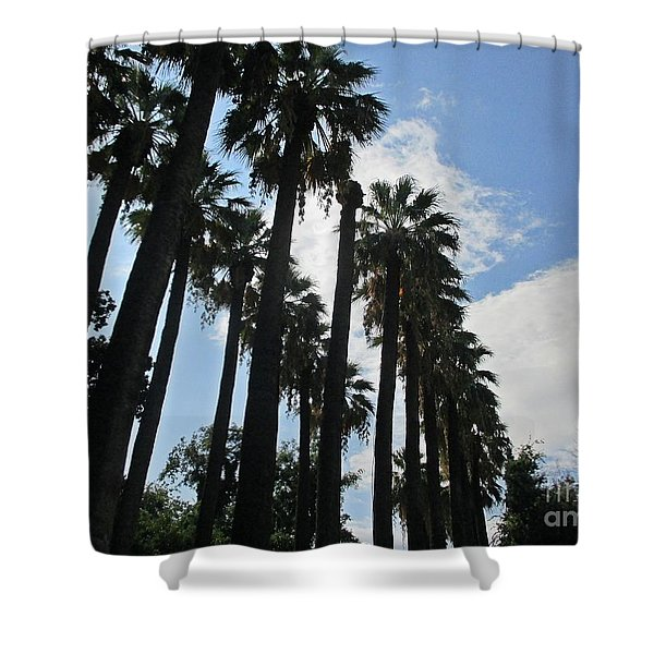 Palm Trees In Athens Shower Curtain