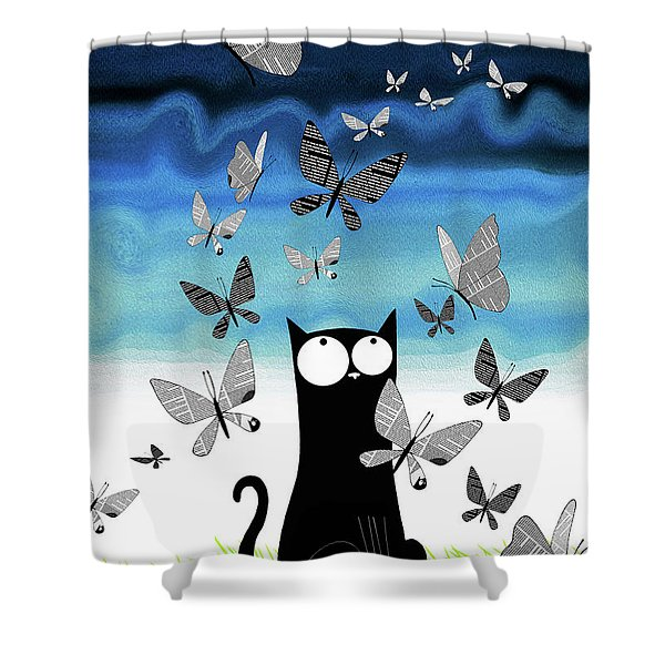Paper Butterflies  Shower Curtain
