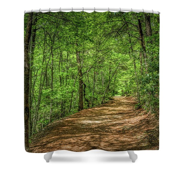 Path Less Travelled - Impressionist Shower Curtain