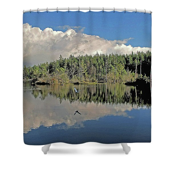 Pause And Reflect Shower Curtain