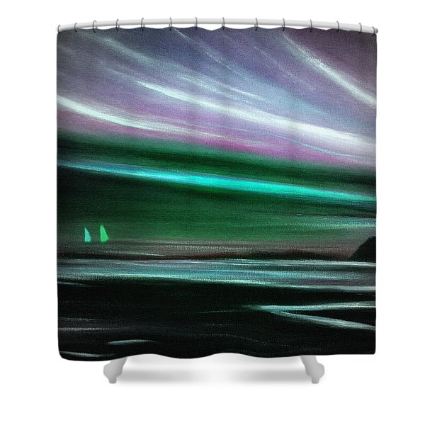 Peace Is Colorful Shower Curtain by Gina De Gorna