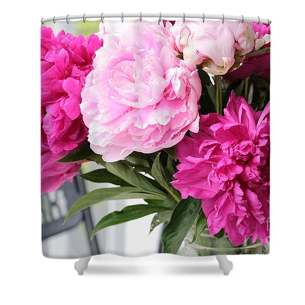 Peonies On The Porch 2 Shower Curtain