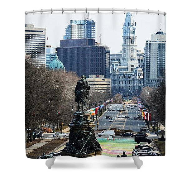 Philadelphia - The Parkway Shower Curtain