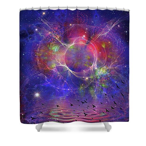 Photon Rings Shower Curtain