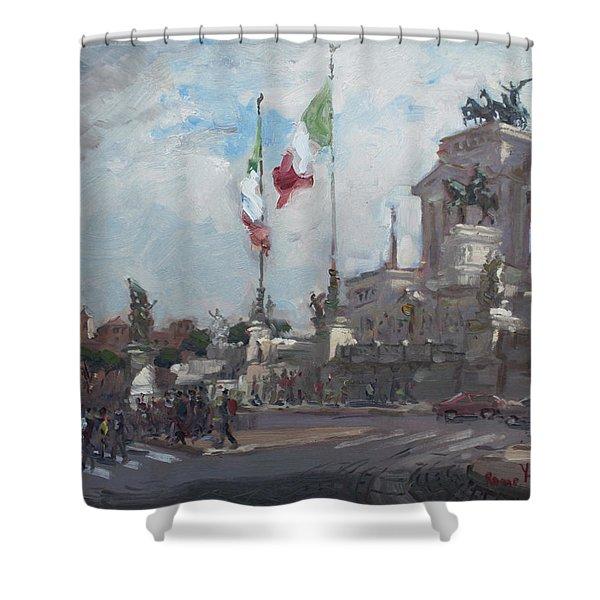 Piazza Venezia Rome Shower Curtain