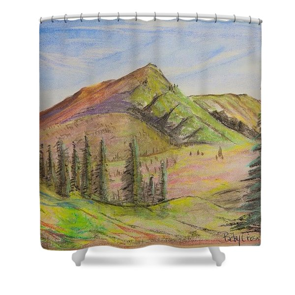 Pines On The Hills Shower Curtain