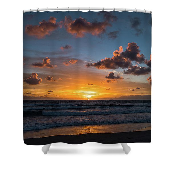 Pink Cloud Sunrise Delray Beach Florida Shower Curtain