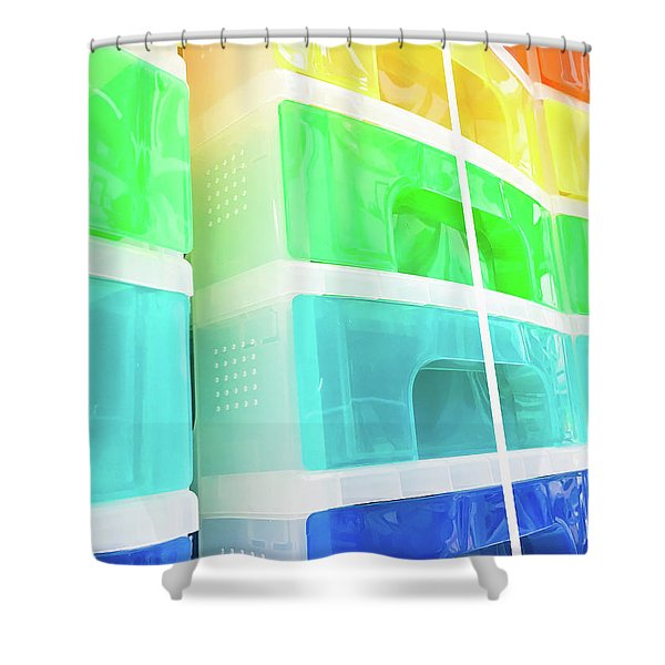 Plastic Drawers Shower Curtain