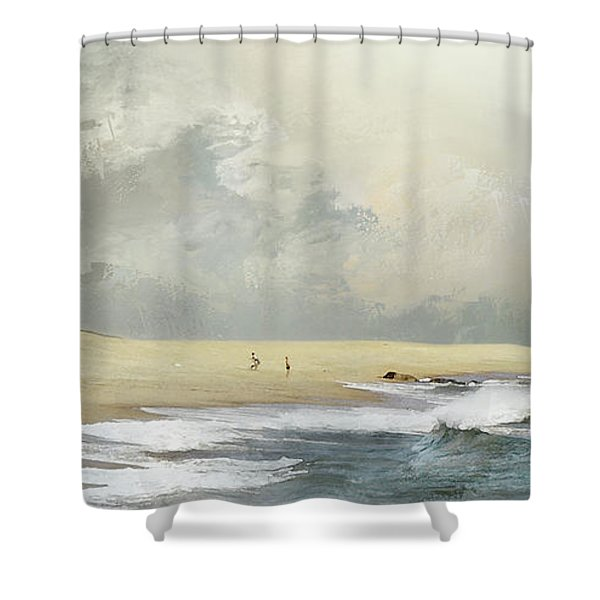 Plum Island Sky Shower Curtain