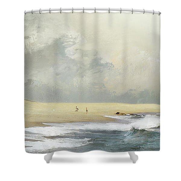 Plum Island Sky Shower Curtain