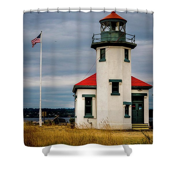 Point Robinson  Lighthouse,vashon Island.wa Shower Curtain