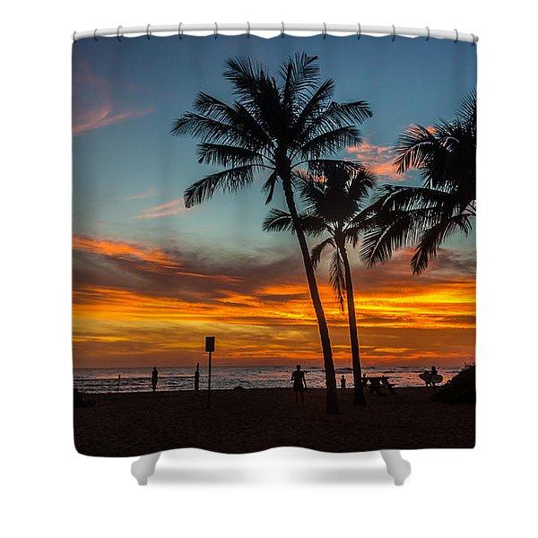 Poipu Beach Sunset - Kauai Hi Shower Curtain