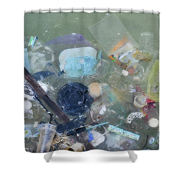 Polluted Dirty Water Shower Curtain