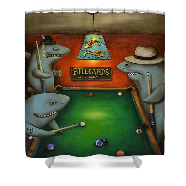Pool Sharks Shower Curtain