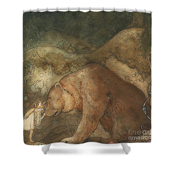 Poor Little Bear Shower Curtain