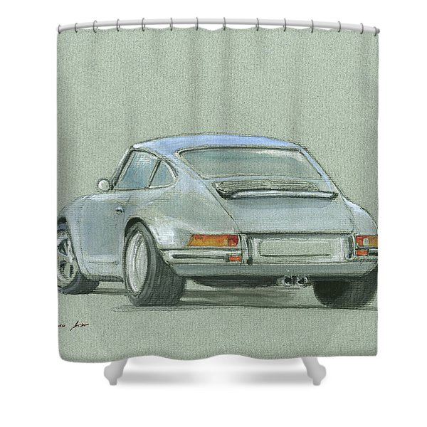 Porsche 911 Rs Shower Curtain