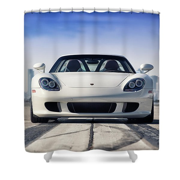 #porsche #carreragt Shower Curtain
