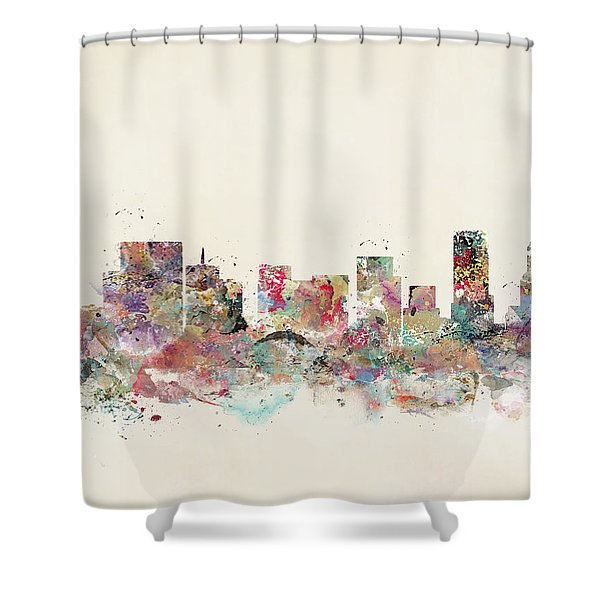 Portland City Skyline Shower Curtain