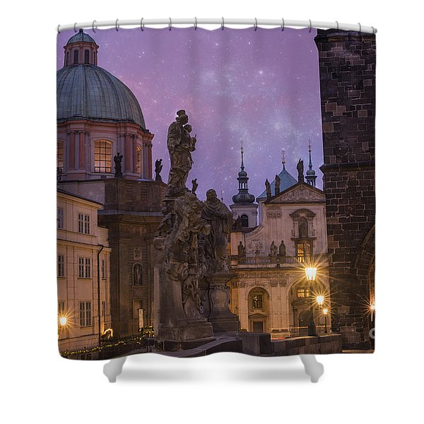 Prague, Czech Republic Shower Curtain
