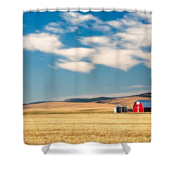 Prairie Red Shower Curtain