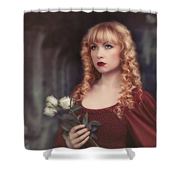 Pre-raphaelite Woman Shower Curtain