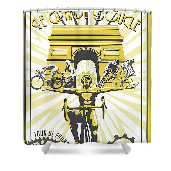 Shower Curtain featuring the painting Print by Sassan Filsoof