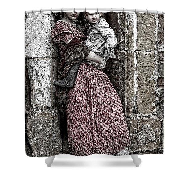 Ragged Victorians Shower Curtain