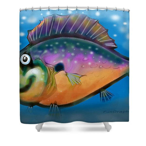 Rainbow Fish Shower Curtain