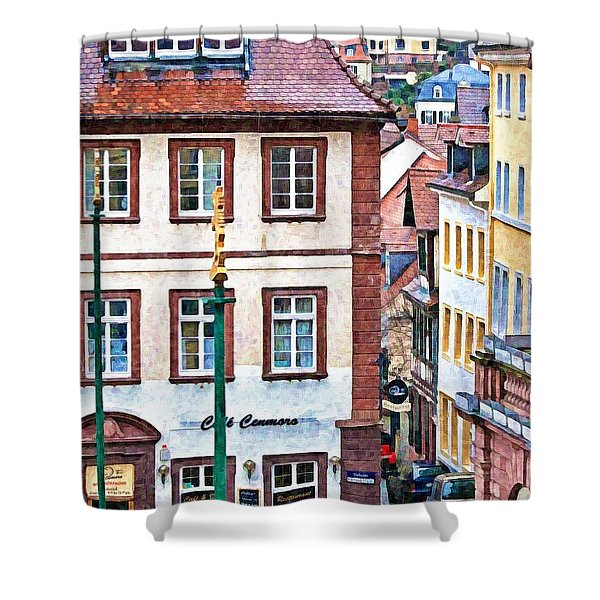 Rainy Day In Heidelberg Shower Curtain