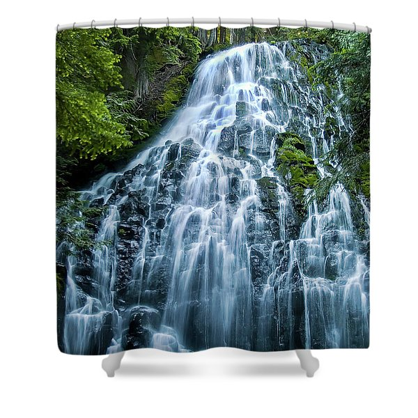 Ramona Falls Cascade Shower Curtain